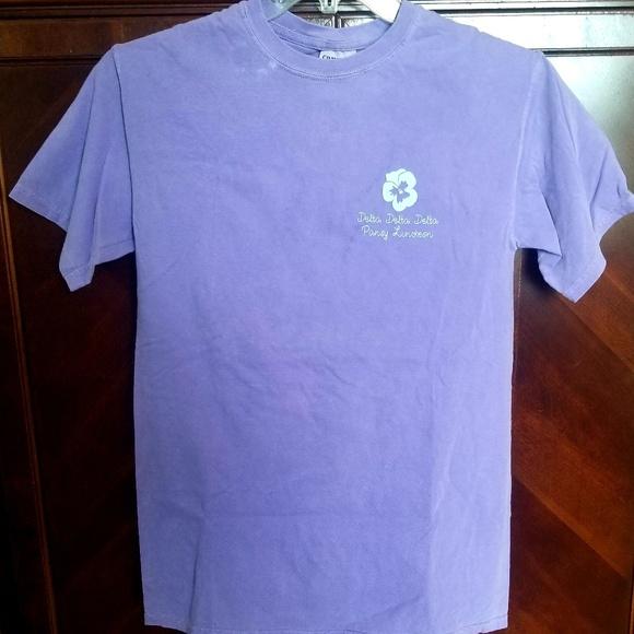 Comfort Colors Tops - Tri Delta sorority tshirt